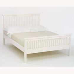 atlanta white 5ft bed frame high foot end - White King Size Bed Frame
