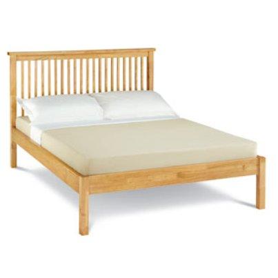 bed frames uk atlanta light wood bed frame low foot end. Black Bedroom Furniture Sets. Home Design Ideas