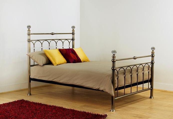 bed frames uk krystal brass 5ft bed frame