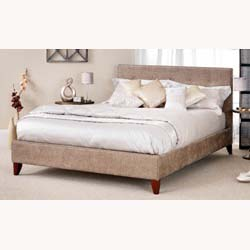 Chelsea 4ft small double fudge fabric bed frame by Serene