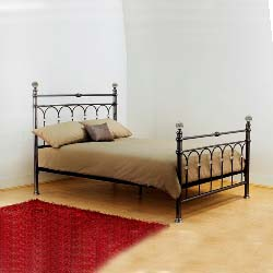 Krystal nickel bed frame.